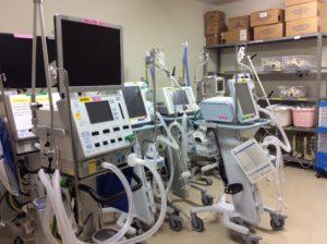 中央管理により貸出している医療機器1