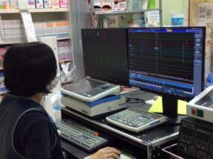 図11:心内電位記録装置の操作