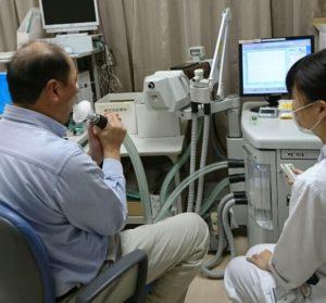 写真 呼吸機能検査